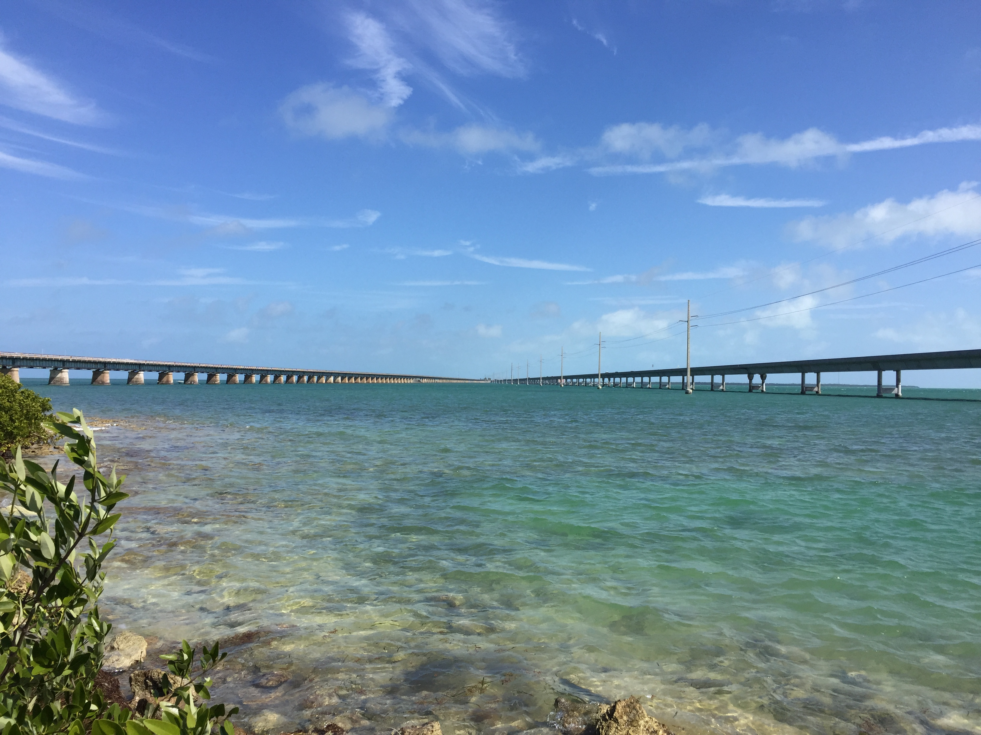 View of the 7 miles bridges from pigeon Key