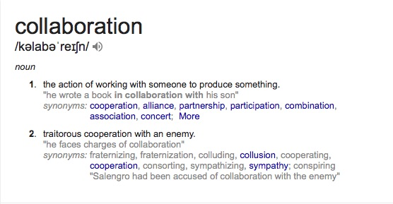 Definition of the term collaboration