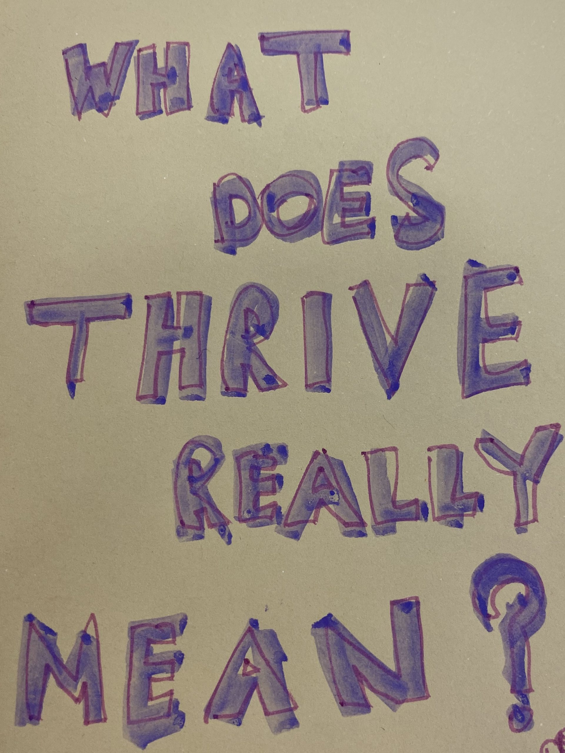 What does thrive really mean?