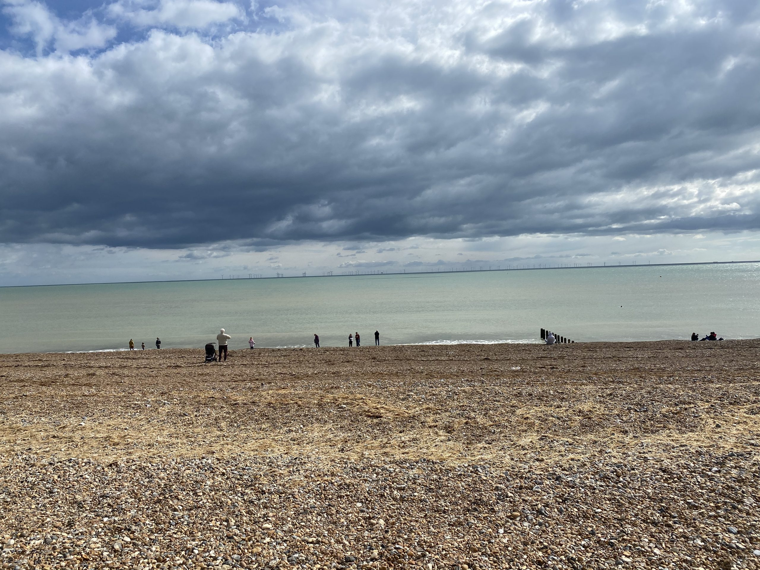A stormy shoreham beach