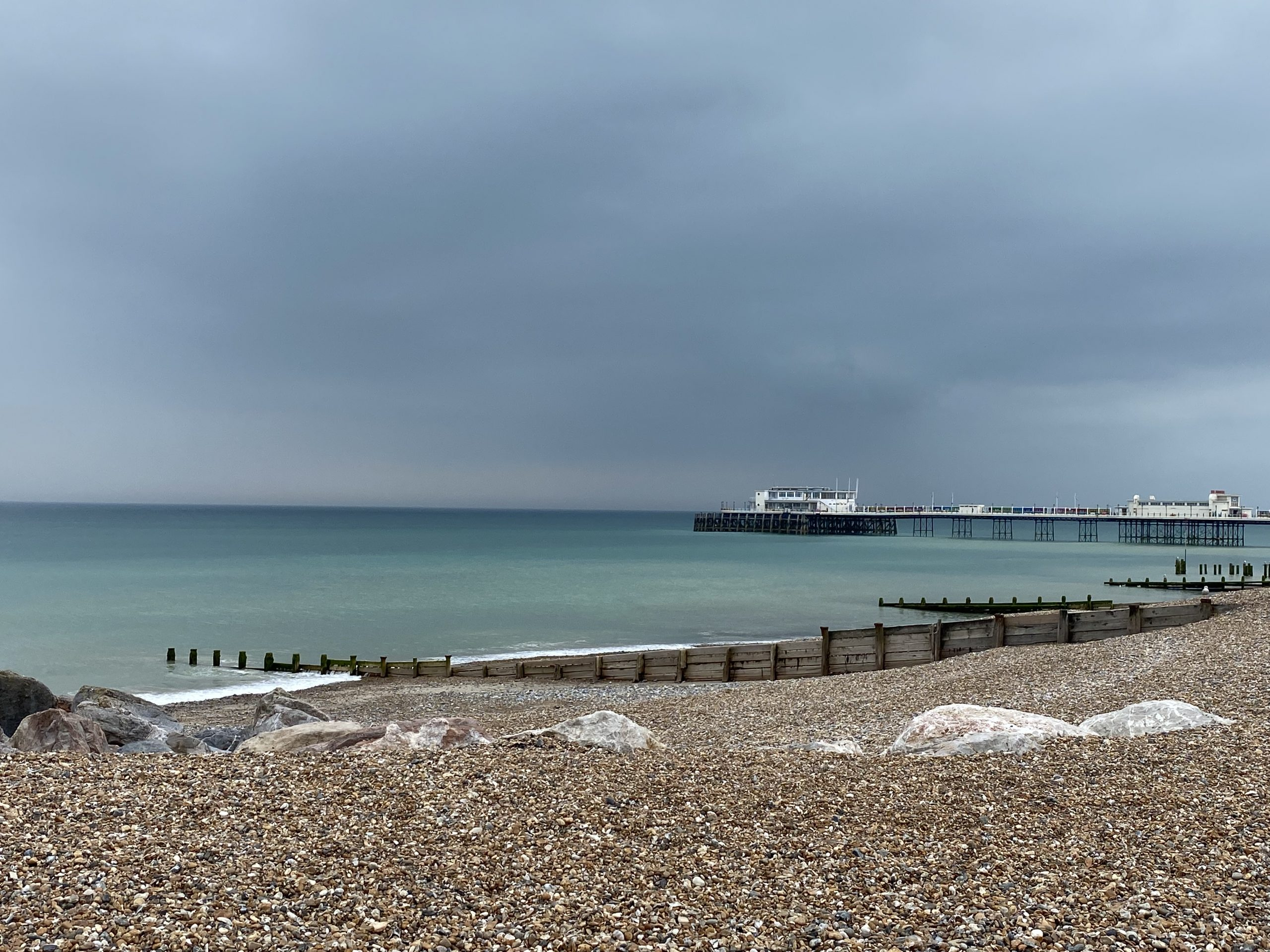 Worthing pier before a storm